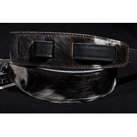 EL DORADO DURANGO MAVERICK BLACK/WHITE COWHIDE GUITAR STRAP