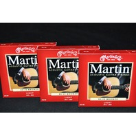 MARTIN M140 LIGHT 80/20 (3-PACK) BRONZE ACOUSTIC GUITAR STRINGS