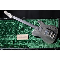 JAMES TRUSSART ANTIQUE SILVER SNAKESKIN DELUXE STEELCASTER  GUITAR SN:14177