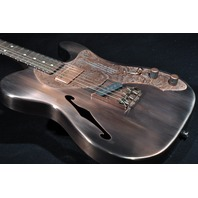 JAMES TRUSSART DELUXE STEELCASTER WITH F HOLE COPPER GUITAR SN:15036