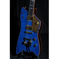 GRETSCH USA CUSTOM SHOP BILLY BO FALCON TRANS BLUE FLAME TOP GUITAR