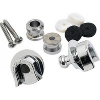 Fender Security Strap Locks & Buttons Chrome Pn: 0990690000
