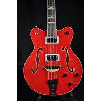 Gretsch G5442BDC Mint Electromatic Hollow Body Short Scale Bass Trans Red