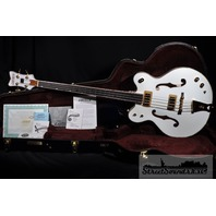 GRETSCH  G6136LSB WHITE FALCON BASS MINT HARDSHELL INCLUDED