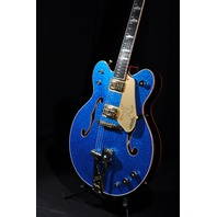 GRETSCH G6136DC BLUE SPARKLE TOP BLACK FALCON DOUBLE CUTAWAY FSR LIMITED EDITION