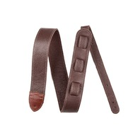 "FENDER CUSTOM BROWN LEATHER GUITAR STRAP 2"" HQ"