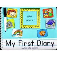MY FIRST DIARY BOARD BOOK (WITH DRY-ERASE MARKER & ERASER) BY MIREILLE SCHIANO