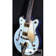 GRETSCH USA CUSTOM SHOP FALCON JR TWO TONE MARINE BLUE DOUBLE CUTAWAY GUITAR HARDSHELL INCLUDED