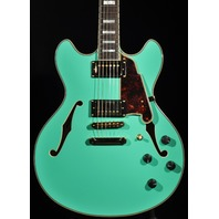 D'ANGELICO EXDC SP SURF GREEN DOUBLE CUT SEMI-HOLLOW BODY GUITAR