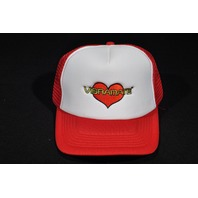 VIBRAMATE HEART LOGO HAT RED