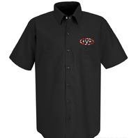 EVH WOVEN WORK SHIRT BLACK X-LARGE