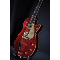 GRETSCH USA CUSTOM SHOP RED SPARKLE BLACK PENGUIN GUITAR