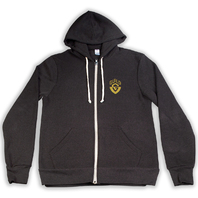 GUILD G SHIELD ZIP-UP HOODIE BLACK LARGE