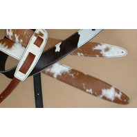 El Dorado Durango Maverick Brown/White Cowhide Guitar Strap