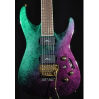 JACKSON USA CUSTOM SHOP DINKY 2H QUILT MAPLE TOP PURPLE GREEN EDS GUITAR