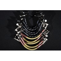 FENDER CUSTOM SHOP PATCH CABLES (10-PACK) TWEED/BLACK TWEED  RT ANGLE