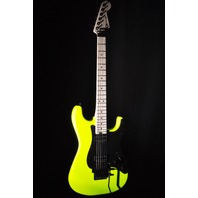 CHARVEL SC1 PRO MOD  SO-CAL SC1 2H FLOYD ROSE NEON YELLOW GUITAR