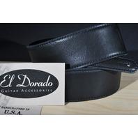 EL DORADO DURANGO SUAVE BLACK/BLACK GUITAR STRAP