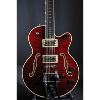 GRETSCH G6659TFM DARK CHERRY FLAME JR PLAYERS EDITION BROADKASTER GUITAR