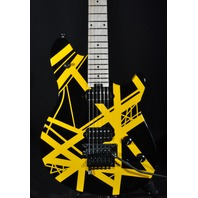 EVH Wolfgang Special Black Yellow Striped Arch top Electric Guitar