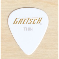 GRETSCH 351 WHITE THIN GUITAR PICKS 144 PICKS (1-GROSS)