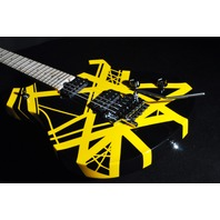 EVH Wolfgang Special Black Yellow Striped Archtop Guitar 2016