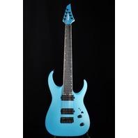 Jackson USA Mansoor Juggernaut HT7 Matte Blue Frost Guitar W/Hardshell Case Mint