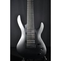 Jackson USA Select B8 Deluxe Neck Thru Satin Black Guitar W/Hardshell Case Mint