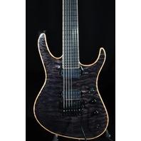 Jackson USA Broderick Soloist 7 Trans Black Guitar W/Hardshell Case