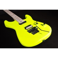 Charvel SD1 Pro Mod  San Dimas SD1 2H Floyd Rose Neon Yellow Guitar Mint
