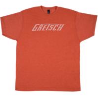 Gretsch Logo Tee Shirt Heathered Orange Small