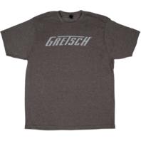 Gretsch Logo Tee Shirt Heathered Brown Medium
