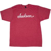 Jackson Logo Tee Shirt Heathered Red Medium