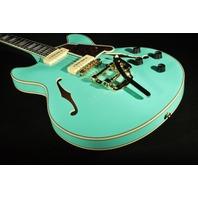 D'angelico Excel DC Shoreline EXDC  P90 Surf Green Body Guitar W/Hardshell