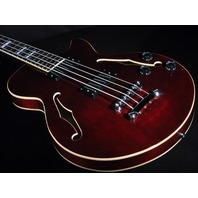 D'angelico Premier Hollow Body Bass Trans Wine Finish