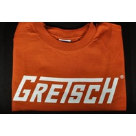 Gretsch T-Roof Logo Tee Shirt Burnt Orange Medium