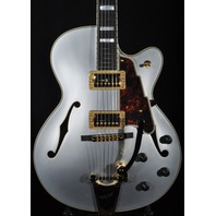 D'angelico Deluxe 175 Matte Silver Guitar  Hardshell Included