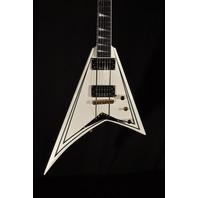 Jackson Pro Rhoads RRT 3 Ivory W/Black Pins Guitar Mint