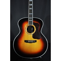Guild USA F-55E  Jumbo Acoustic/Electric Antique Burst Guitar W/Hardshell Case