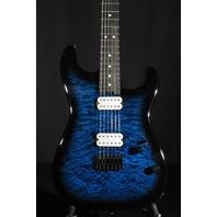 Charvel SD1 HH HT Pro Mod  San Dimas  Ebony Fretboard Trans Blue Burst Guitar