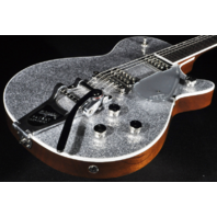 Gretsch G6129T-PE Players Edition Silver Sparkle Jet Guitar Hardshell Included