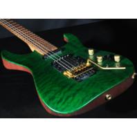 Jackson USA PC1 Phil Collen Signature Guitar Satin Trans Green W/Caramelized Flame Maple Fretboard