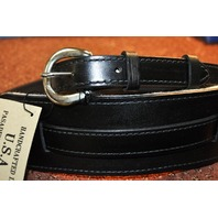 EL DORADO VINTAGE PLAIN BLACK GUITAR STRAP SMALL 40''- 46''