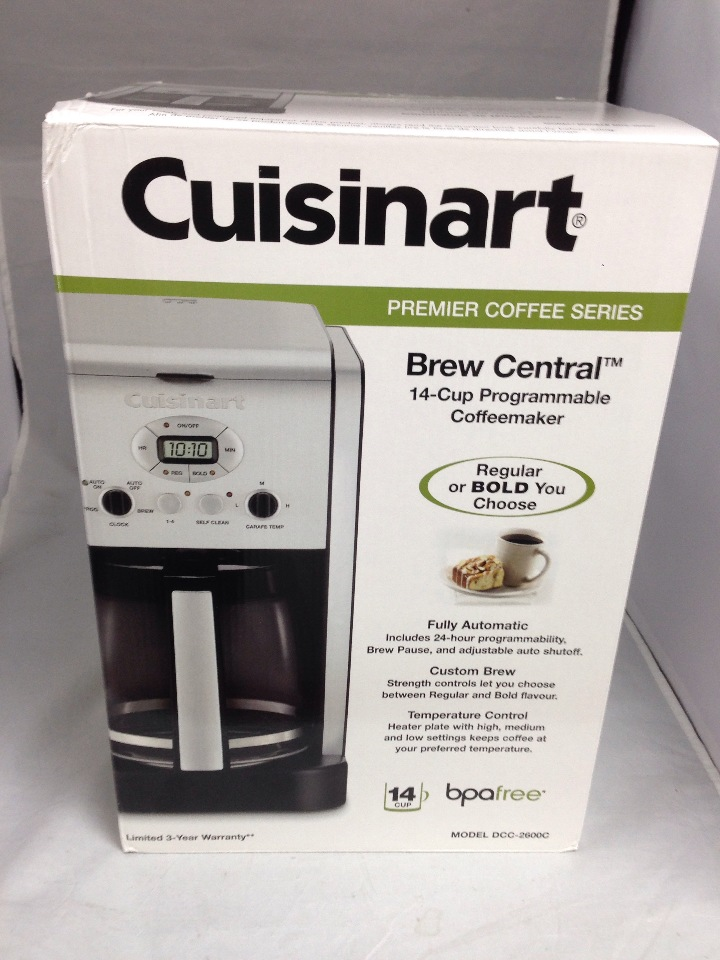 Cuisinart Coffee Maker Regular Vs Bold : Cuisinart Coffee Maker - 14 cup - Stainless steel DCC-2600 - NEW eBay