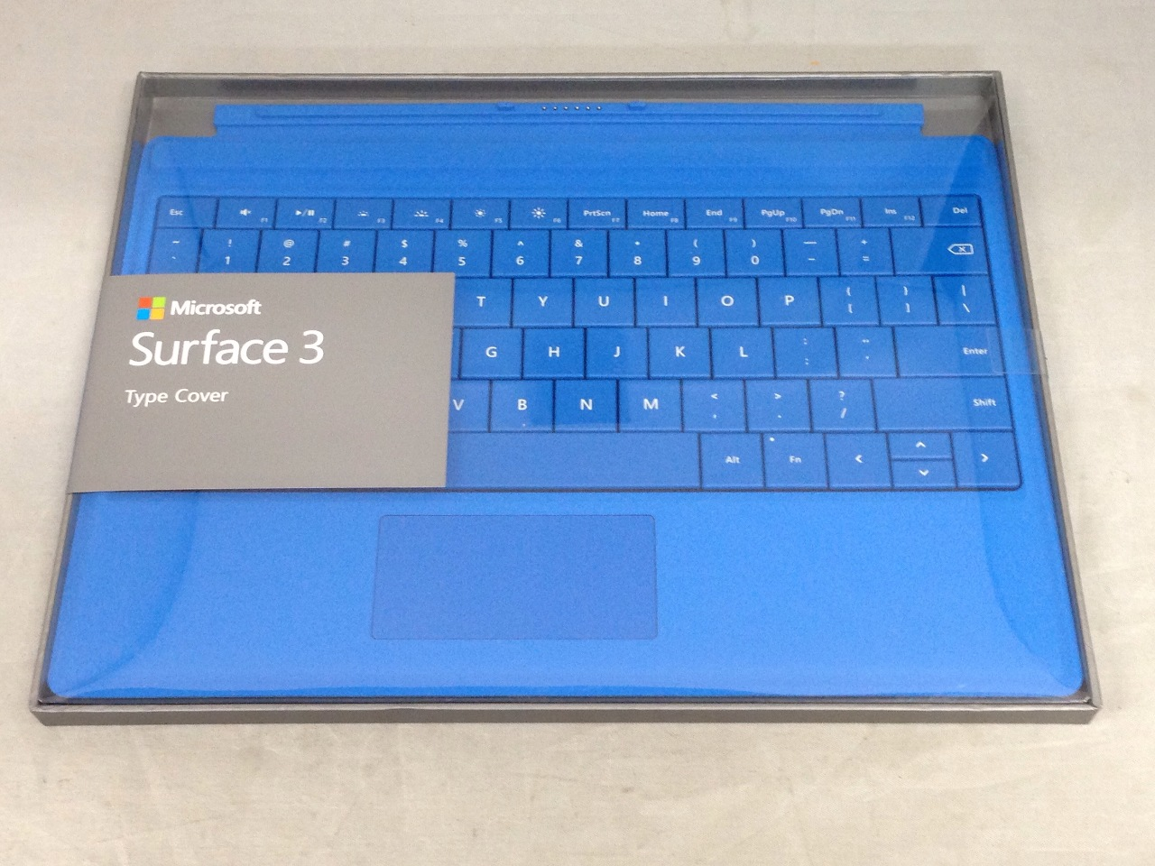 Microsoft Surface 3 Type Cover SC English, Bright Blue (A7Z-00002) - SEALED