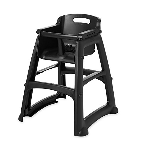 ... Black Rubbermaid Commercial Sturdy Chair Youth Seat Without Wheels,  Black