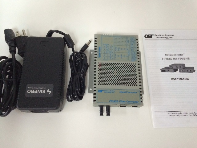 Omnitron OmniConverter 9300-0-21W Fast Ethernet Media Converter - 2 x RJ-45 PoE, 1 x ST Network - 10/100Base-TX, 100Base-FX - Rail-mountable, Wall-mountable, External - 5 km