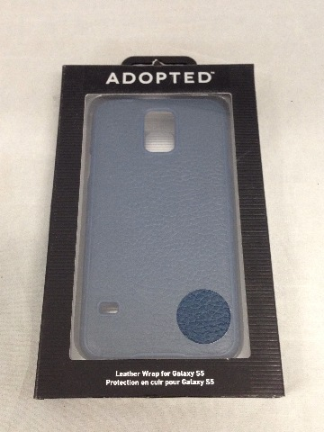 Adopted Leather Cell Phone Case for Samsung Galaxy S5 - Navy/Deep Navy