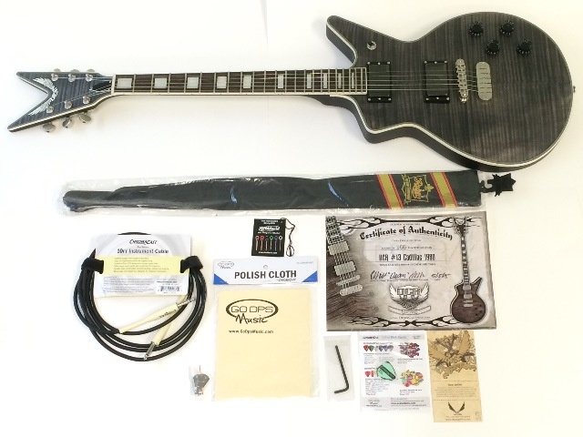 Dean Custom Run #13 Cadillac 1980 Guitar - with accessories