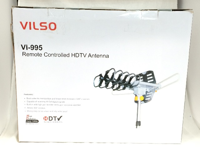 Vilso TV Antenna Outdoor Amplified - Motorized 360 Rotation - HDTV 150 Miles
